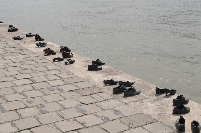 The metal shoes on the Danube Promenade beside the River